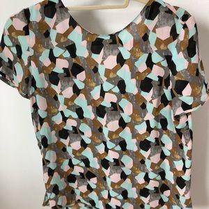 Zara back bow shirt